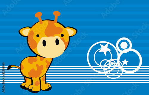 giraffe baby cartoon wallpaper vector