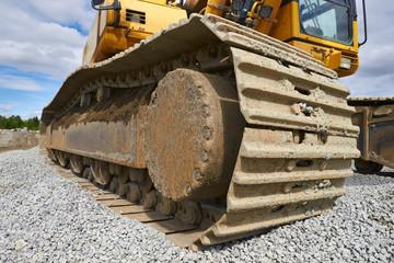 tracks of an excavator