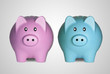 Piggy Bank Couple Saving