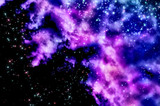 Blue and magenta nebula