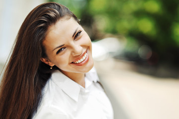 Beautiful happy smiling teen girl