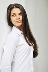 Beautiful cheerful teen girl, beauty female face
