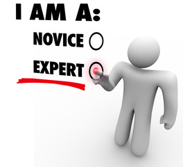 I Am An Expert Choose Experience Expertise Skill Level