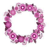 vector flowers decorative wreath
