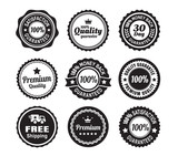 Fototapety Vintage Quality Guarantee Badges