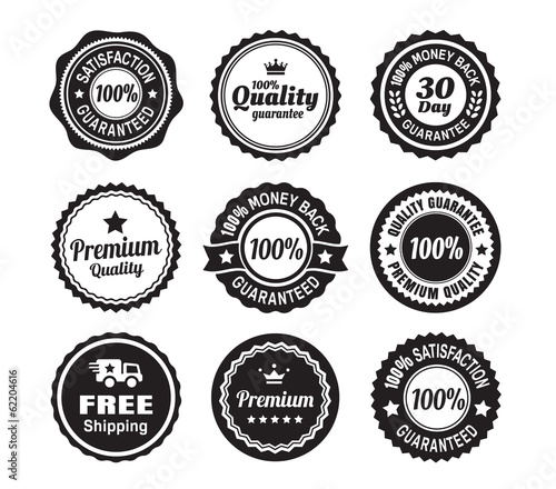 Vintage Quality Guarantee Badges - 62204616
