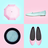 Fototapety Set of footwear and accessories for women
