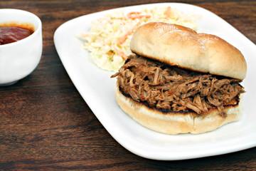 Pulled Pork Sandwich on a bun