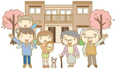 二世帯住宅 家族 三世代