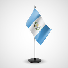 Table flag of Guatemala