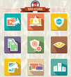 Seo marketing icons,vector