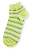 Fashionable pair of green striped socks