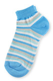 Couple of trendy blue striped socks
