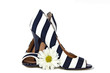 striped pumps with white daisy