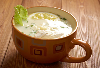 Avgolemono or egg-lemon