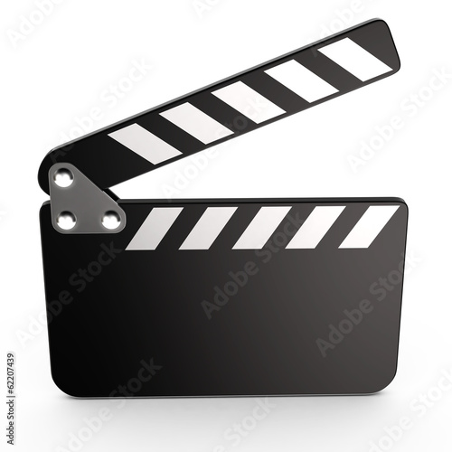Movie clapper board, 3d