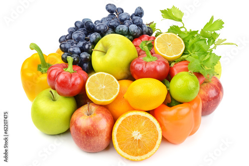 canvas print picture useful set of fruits and vegetables