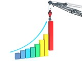 Growth & Progress Bar Chart. Crane