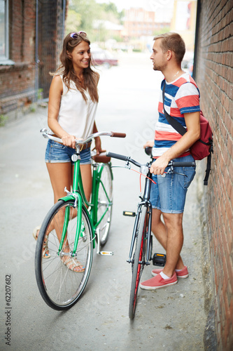 Friendly bicyclists