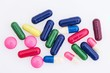 Colorful pills and capsules