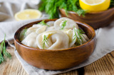 Dumplings in a bowl