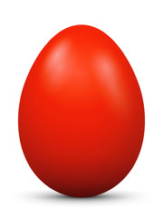 Osterei, Ei, Ostern, bemalt, rot, Easter Egg, colored, red, 3D