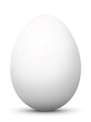 Osterei, Ei, Ostern, weiß, Frühstücksei, Easter Egg, white, 3D