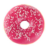 Doughnut in pink glazed