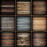 colorful wooden planks collection
