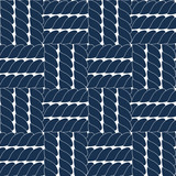 Navy blue rope lattice geometric seamless pattern, vector
