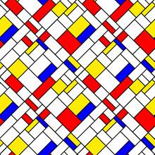 Kolorowe przekątnej Mondrian styl geometryczny wzór bez szwu