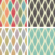 Set of seamless abstract patterns