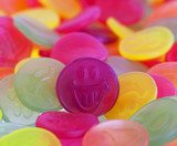 Colorful candy faces