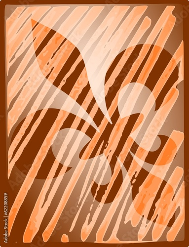 Fleur de lis reflection - orange
