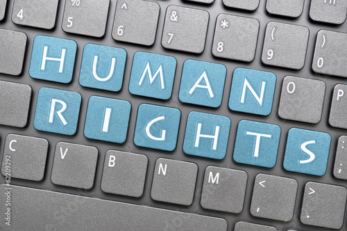 Human rights on keyboard