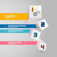 Four Vector Progress Steps for Tutorial, Modern