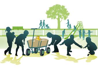 Spielplatz mit kinder
