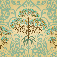 Traditional floral pattern in retro style.