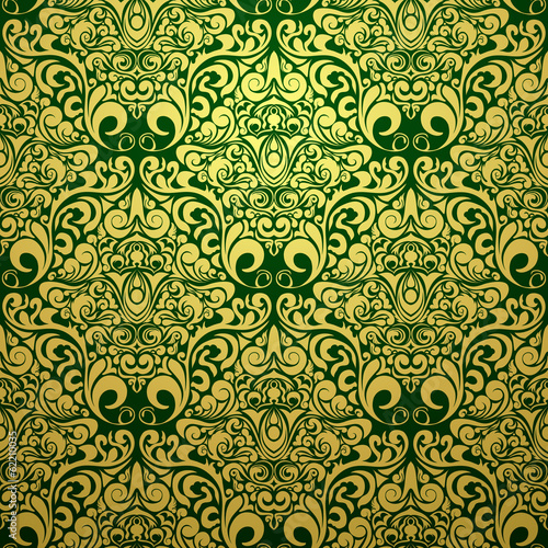 gold vinyl Wallpaper, pattern