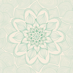 Ornamental seamless pattern with flowers