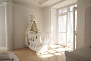 Kinderzimmer mit Wiege für Baby