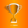 Paper trophy with space for your text - vector illustration
