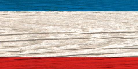 Flag of Crimea Wood texture