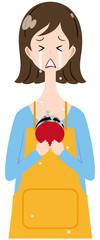 女性 エプロン 財布 号泣