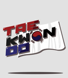 Taekwondo and korean flag