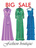 Three silk party dresses.Sale