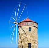 Windmill In Rhodos