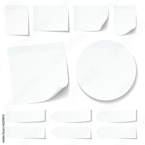 White Stick Notes Collection Round