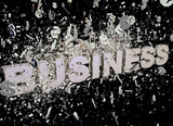 Explosion of business - illustration