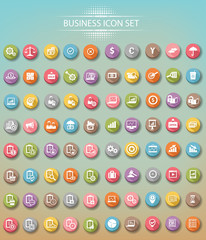 Big set of business icons,Colorful version